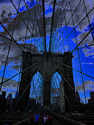 Xueling Zou Digital Art Posters - Brooklyn Bridge Poster by Xueling Zou
