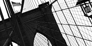 Brooklyn Bridge Pyrography - Brooklyn lines by Gilles Rousel