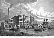1876 Framed Prints - Brooklyn: Sugar Refinery Framed Print by Granger