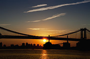 Brooklyn Bridge Digital Art Metal Prints - Brooklyn Sunrise Metal Print by Bill Cannon