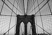 Bridge Framed Prints - Brooklyns Web Framed Print by Joshua Francia