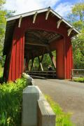 Covered Bridge Digital Art Prints - Brookwood Covered Bridge Print by James Eddy