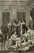 Woodcuts Photos - Brothel In Ancient Greece. 19th Century by Everett