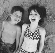 Individuals Photo Posters - Brother And Sister On Beach Poster by Michelle Quance