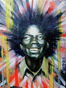 Michael Jackson Portrait Painting Originals - Brother Black... MCMLXXV by Brandon Coley