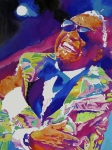 Musician Greeting Cards Paintings - Brother Ray Charles by David Lloyd Glover