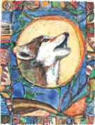Brother Mixed Media - Brother Wolf by Patricia Allingham Carlson