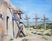 Abiquiu Paintings - Brotherhood of Light by M Schaefer