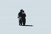 Silhouette Digital Art - Brothers in Arms by Bill Cannon