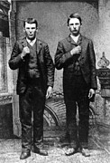 1860s Framed Prints - Brothers In Crime, Jesse And Frank Framed Print by Everett