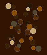 Abstract Geometric Art Prints - Brown Abstract Print by Frank Tschakert