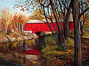 Indiana Rivers Prints - Brown County Bridge Print by Dorothy Riley