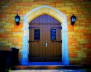 Classic Architecture Prints - Brown Doors Print by Perry Webster