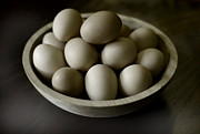 Wooden Bowl Prints - Brown Eggs in a Wooden Bowl Print by Kevin Felts