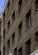 Repetition Prints - Brown Facade Print by Viktor Savchenko