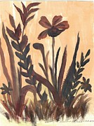 Brown Ferns Print by Debbie Wassmann