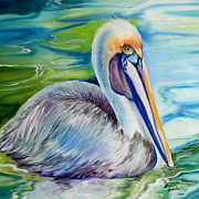 Marcia Prints - BROWN PELICAN of LOUISIANA Print by Marcia Baldwin