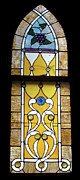 American Glass Art Framed Prints - Brown Stained Glass Window Framed Print by Thomas Woolworth