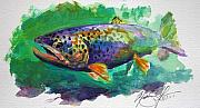 Trout Paintings - Brown Trout by Mike Savlen