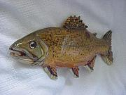 Fishing Reliefs - Brown Trout- SOLD-Living Waters Series by Lisa Ruggiero