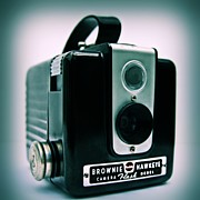 Film Camera Photo Prints - Brownie Hawkeye Print by DJ Florek