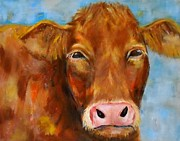 Contemporary Animal  Acrylic Paintings - Brownie by MaryAnn Ceballos
