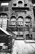 Brownstone Art - Brownstone in NYC bw by John Rizzuto