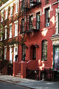 Greenwich Village Art - Brownstone by John Rizzuto