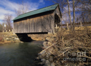 Scenic Drive Framed Prints - Brownsville Covered Bridge - Brownsville Vermont Framed Print by Erin Paul Donovan