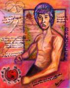 Bruce Lee Paintings - Bruce Lee - Be Like Water by Regina Brandt
