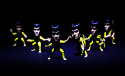 Judo Prints - Bruce Lee - stances  Print by Ian Hufton