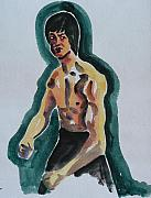Bruce Lee Painting Originals - Bruce Lee - The Legend by Abin Raj