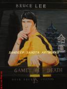 Blockbuster Art - Bruce Lee... Game Of Death by Sandeep Kumar Sahota