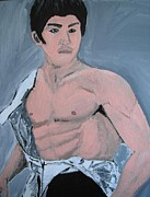 Jordan Paintings - Bruce Lee by Jeannie Atwater Jordan Allen