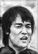 Bruce Drawings Originals - Bruce Lee by Mike Todd