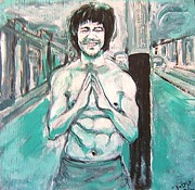 Bruce Lee Painting Originals - Bruce Lee Painting 1 by  Anthony Parillo