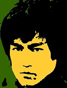Bruce Lee Pop Print by Paul Van Scott