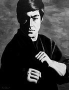 Dragon Framed Prints - Bruce Lee Framed Print by Rick Ritchie