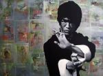 Movie Star Paintings - Bruce Lee by Ryan Jones