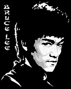 Bruce Painting Originals - Bruce Lee by Zeeshan Nayani