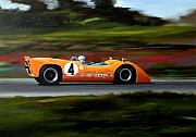 Bruce Painting Originals - Bruce Mclaren by Steve Jones