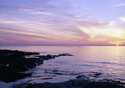 Lapping Prints - Bruce Peninsula and Lake Huron near Tobermory at Sunset Print by Gordon Wood