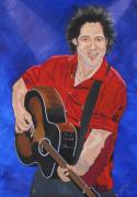 Peoria Artists Paintings - Bruce Springsteen-An American Boy by Bill Manson
