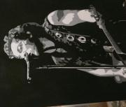 Bruce Springsteen Painting Originals - Bruce Springsteen by Mandy Beatson