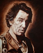 Bruce Springsteen Painting Prints - Bruce Springsteen Print by Mark Baker