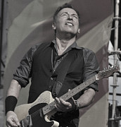 Bruce Springsteen Art - Bruce Springsteen The Boss by Lucrecia Cuervo