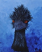 Emu Paintings - Bruce the Aussie Emu by Estelle  Wicks