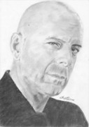 Bruce Drawings Originals - Bruce Willis by Annie GODET