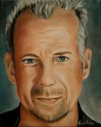 Bruce Painting Originals - Bruce Willis Celebrity Painting by Dyanne Parker