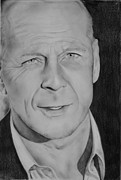 Bruce Drawings Originals - Bruce Willis by Cristina Ceccherini